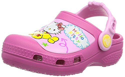 Crocs CC Hello Kitty Plane Clog K, Zoccoli e sabot, Unisex - bambino, Rosa (Fux), 31-32