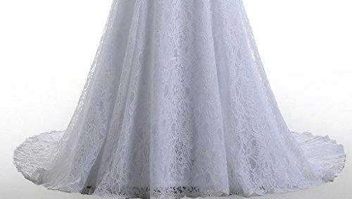 Beautyprom Women's Lace Mermaid Bridal Wedding Dresses White US14