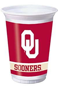Buy Creative Converting Oklahoma Sooners Printed Plastic 20 oz. Cups (8 Count) by Creative Converting