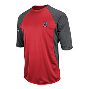 Los Angeles Angels Red Authentic Collection Featherweight Tech Fleece by Majestic by Majestic