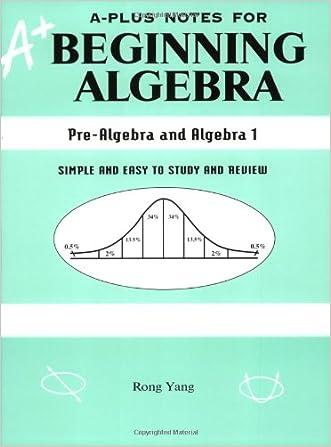 A-Plus Notes for Beginning Algebra: Pre-Algebra and Algebra 1