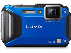 Panasonic Lumix DMC-TS5A 16.1 MP Tough Digital Camera with 9.3x Intelligent Zoom (Blue)