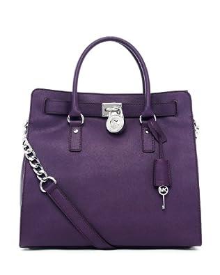 MICHAEL Michael Kors Hamilton Saffiano Leather Bag Tote Purple