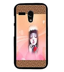 PrintDhaba Lovely Face D-5733 Back Case Cover for MOTOROLA MOTO G (Multi-Coloured)