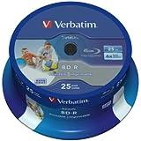 Verbatim 43811 25GB BD-R SL Datalife 6x Inkjet Printable - 25 Pack