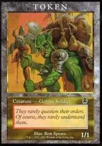 Magic: the Gathering - Goblin Soldier - Tokens - Token Promos