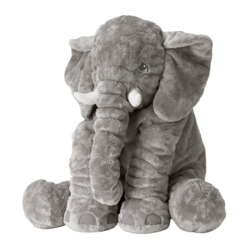 Elephant, Soft, Grey, 22 Inch, Stuffed Animal Plush Pillow by Huggable - 411 2BYvaKNfL - Huggable Soft Elephant, 22 Inch, Grey Stuffed Animal Plush Pillow