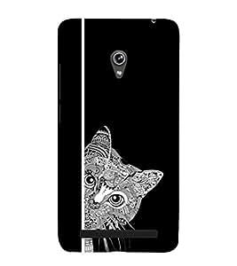 EPICCASE Artistic cat Mobile Back Case Cover For Asus Zenfone 6 (Designer Case)