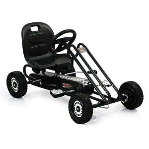 Hauck T90109 Lightening Go-Kart - Coche de con pedales de juguete, color negro