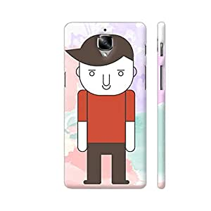 Colorpur Sad Man Standing Designer Mobile Phone Case Back Cover For OnePlus 3   Artist: Designer Chennai