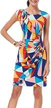 Tiana B Womens Printed Triangle Dress