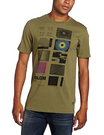 Volcom Men's Stone Drome Short Sleeve Tee, Lichen Green, XX-Large