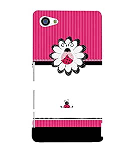Pink Beetle Pattern 3D Hard Polycarbonate Designer Back Case Cover for Sony Xperia Z5 Compact :: Sony Xperia Z5 Mini