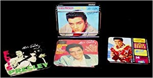 Elvis Presley Metal Coaster Set with Rack