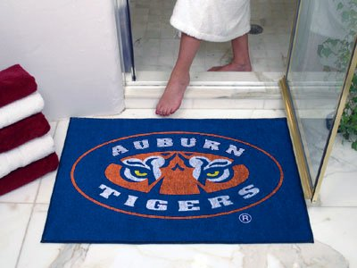 NCAA Auburn Tigers Logo Chromo Jet Printed Rectangular Area Rug Floor Mat 45
