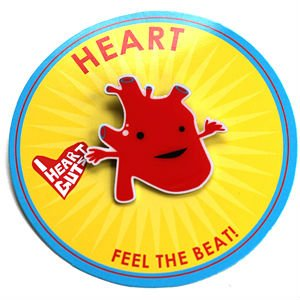 Heart Lapel Pin Feel The Beat I Heart Guts