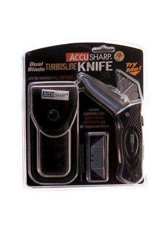 Accusharp 706C Turboslide Sport And Utility Knife, Black
