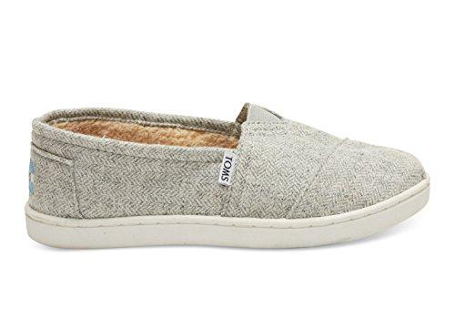 Toms Classics Grey Wool Herringbone 10006642 Youth 1