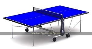 CORNILLEAU Tectonic Pack de 50 Table de Tennis de table Bleue Extérieure Sur Roulettes