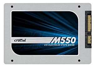 "Crucial M550 128GB SATA 2.5"" 7mm (with 9.5mm adapter) Internal Solid State Drive CT128M550SSD1"