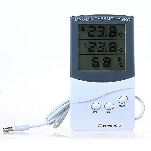 COLEMETER® Funk Wetterstation Digital Thermometer mit Temperatur Sensor 0 ºC to 50 ºC
