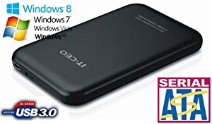 """Allcam USB 3.0 portable boîtier de disque dur externe pour ordinateur portable 2,5"""" SATA disques dur -noir"""