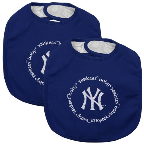 Baby Fanatic Team Color Bibs, Ny Yankees, 2-Count front-944342