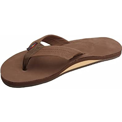 Rainbow Premier Leather Sandal - Brown small
