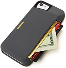 iPhone 5c Wallet Case - Slite Card Case for iPhone 5c by CM4 - Slate Gray- [Ultra Slim Protective iPhone Wallet]