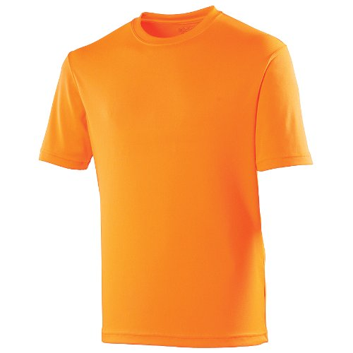 Just Cool Kids Unisex Sports T-Shirt (12-13) (Electric Orange)