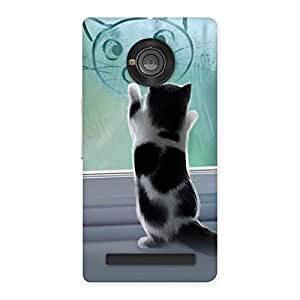 Cute Cute Kitty Face Print Back Case Cover for Yu Yunique