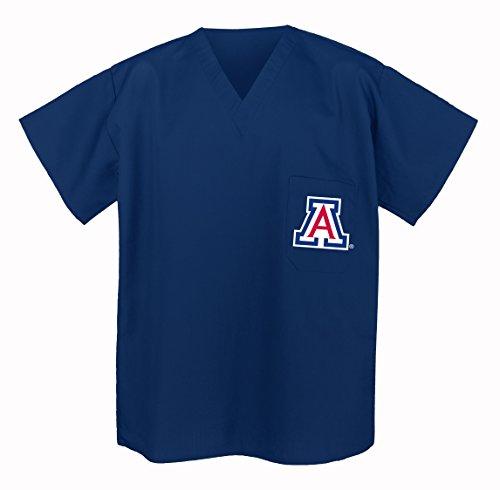 University Of Arizona Scrubs Top Shirt-Size Lg- Arizona Wildcats Men Ladies front-915890