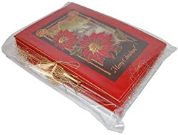"Christmas Poinsettia 5"" x 7"" Card Value Pack"