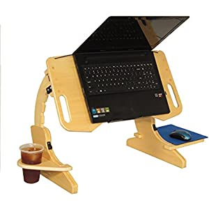 AdapDesk Portabe Foldable Adjustable Desk Laptop Bed Tray Notebook Stand Reading and Breakfast Tray Computer Table