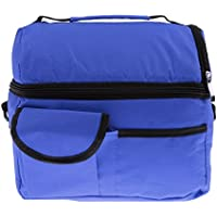 Generic Insulated Thermal Cooler Shoulder Travel Lunch Bags Mummy Baby Bottle Bags - deep blue