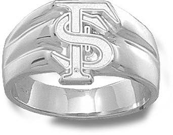 Florida State Seminoles Interlock FS 1 2 Mens Ring Size 11 1 2 - Sterling Silver... by Logo Art