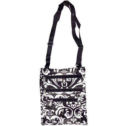 travel-accessories-black-white-damask-hipster-purse-messenger-bag-carrier-swingpack-crossbody-case-b