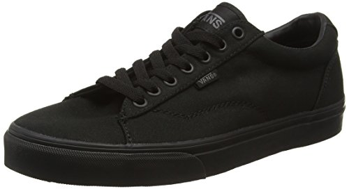 vans-mens-dawson-low-top-sneakers-black-canvas-black-black-6-uk