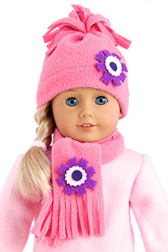 Hat and Scarf - American Girl Doll Clothes (Outfit sold separately)