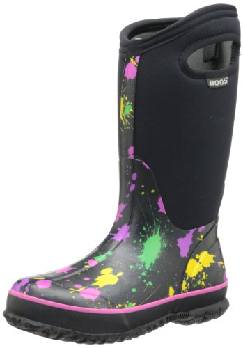 Bogs Classic High Paint Splat Waterproof Insulated Rain Boot (Toddler/Little Kid/Big Kid), Pink,6 M US Big Kid (Pink Insulated Boots compare prices)