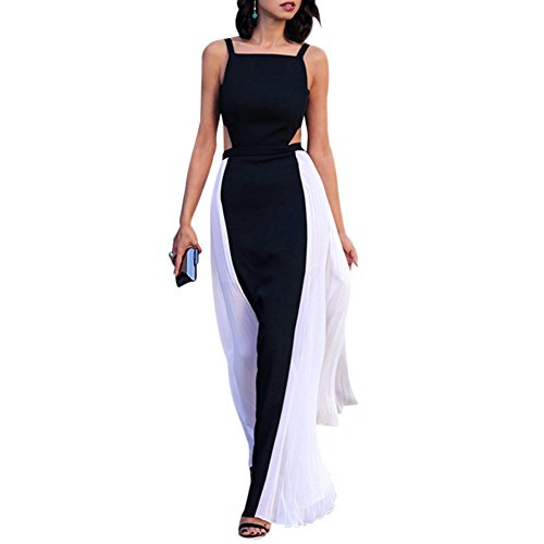 ROPALIA Women Boho Sleeveless Long Maxi Chiffon Evening Party Gown Beach Dresses