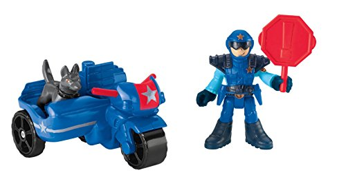 Fisher-Price Imaginext - Adventure City Police Cycle and Dog