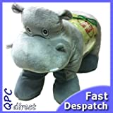 Hippo Pet Pillow Soft Safari Animal Cushion