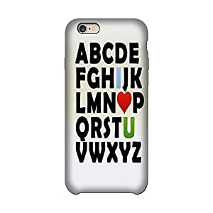 Abhivyakti Love Abc I love u Hard Back Case Cover For Apple Iphone 6/6s