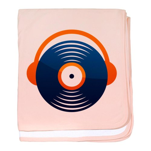 Cafepress Headphone Recorder Disc Baby Blanket - Standard