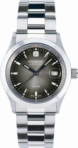 SWISS MILITARY (スイスミリタリー) 腕時計 ML/179 エレガント ダークグレー文字盤 メタルブレスレット メンズ