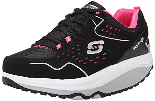 skechersshape-ups-20-everyday-comfort-sneaker-donna-nero-black-black-pink-40