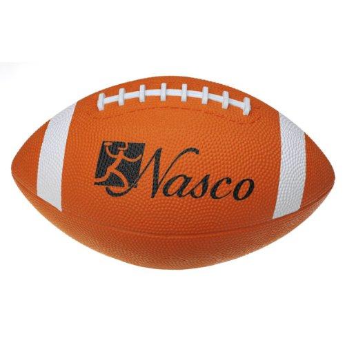 Nasco PE02690E Junior Size 3 Football, Orange, Grades 5+