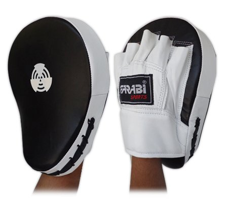 Curved Focus Pads, Hook & Jab Mitts, Boxing Training Pads made with genioun cowhide leather.