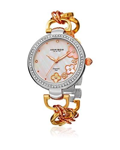Akribos XXIV Reloj con movimiento cuarzo japonés  Plateado / Dorado / Rosado 36 mm